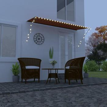 vidaXL Einziehbare Markise LED 350 x 150 cm orange/braun (145933)