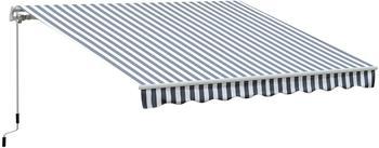 Outsunny Gelenkarmmarkise 2,95x2,5m grau/weiß (840-176)