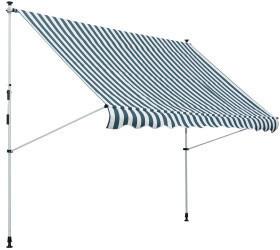 Outsunny Sonnenschutz Balkon 3x1,5m grün/weiß (840-183GN)