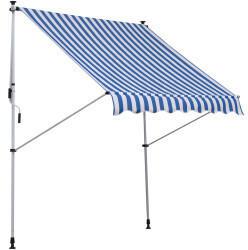 Outsunny Klemmmarkise 2x1,5m blau/weiß (840-182BU)