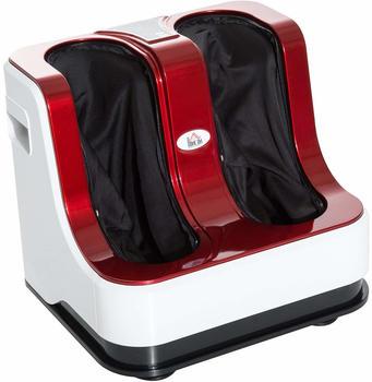 Homcom Fußmassage Fußmassagegerät Fußreflexzonenmassage mit Wärmefunktion Rot L48 × B42,5 × H42,5 cm
