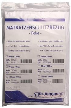 Dr. Junghans Medical Matratzen-Schutzbezug Folie 0,1 mm weiß 100x200 cm