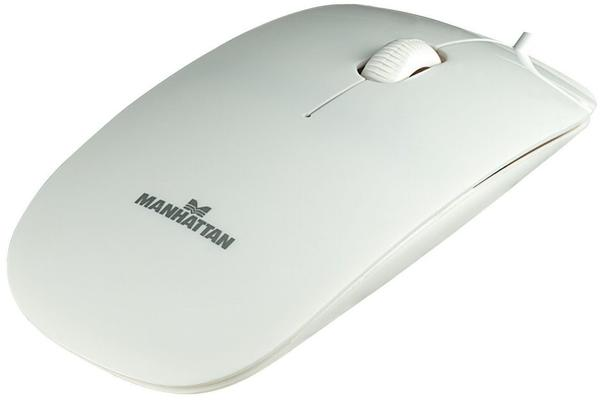 Manhattan Slim Optical Mouse Silhouette weiß (177627)