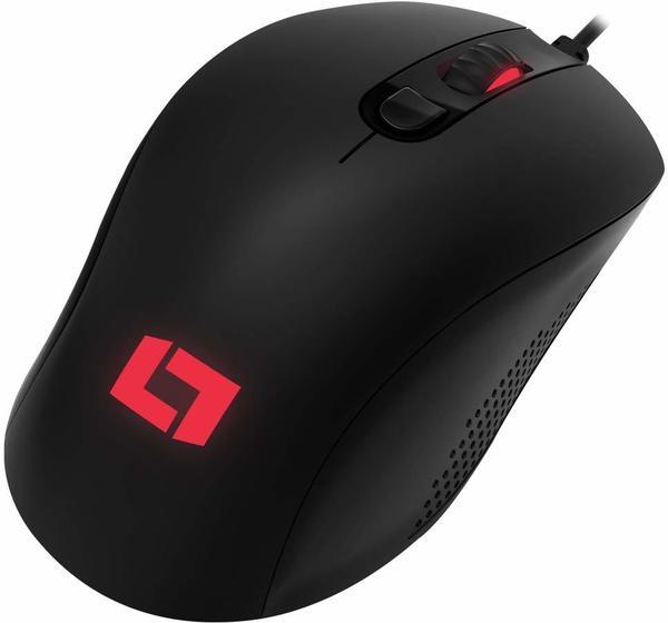 Lioncast LM60 Gaming-Maus Schwarz/Rot