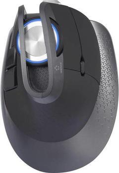 Renkforce M618X Bluetooth-Maus, Funk-Maus Laser Maustasten, USB-Anschluss, Beleuchtet Schwarz
