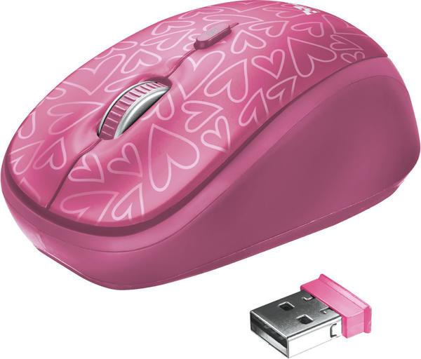 Trust Yvo Wendehülle für 15,6 Laptops mit kabelloser Maus (pinke Herzen)