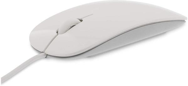 LMP Easy Mouse USB mit 2-Pulsenten und Rollen, weiß/silberfarben