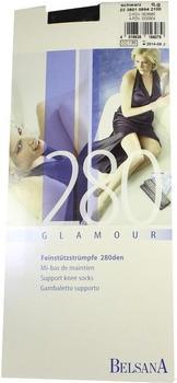 Belsana Glamour 280den Kniestrümpfe lang M schwarz