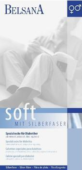 Belsana Soft Diabetiker Socke 2 marine mit Silberfaser