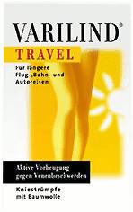 Varilind Travel Kniestrumpf Baumwolle XS beige