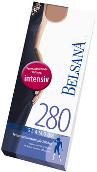 Belsana Glamour 280den Kniestrümpfe kurz M schwarz