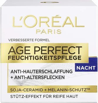 LOréal Paris LOreal Age Perfect mit Soja-Ceramid für die Nacht, mildert Altersflecken und strafft die Haut, 50 ml