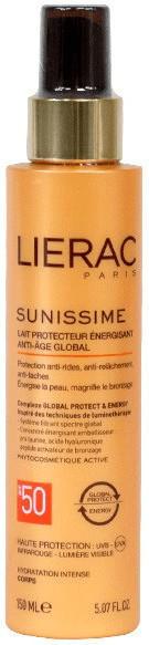 Lierac Fluide Protecteur Énergisant Anti-Age Global SPF 50+ (150 ml)