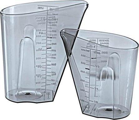 Koziol Messbecher Set 0,5 & 1 Liter DOSIS grau