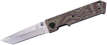 Puma Tec Stahl D2, Rostträge, Daumenpins, Liner Lock, Cnc gefräste G10-Griffschalen, Clip, Öse, Box