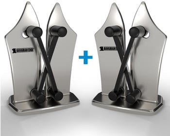 MediaShop Bavarian Edge Messerschärfer silber 2er Set
