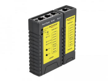 DeLock 86407 Cable Tester RJ45/RJ12+Portfinder
