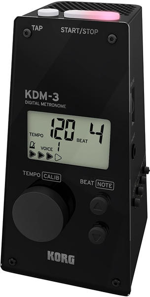 Korg KDM3-BK Pyramid Style Digital Metronome - Black
