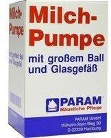 PARAM Handmilchpumpe Glas mit großem Ball