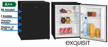 GGV-Exquisit Mini Kühlschrank Ohne Gefrierfach Minibar 58l A++ 62cm Hoch Schwarz