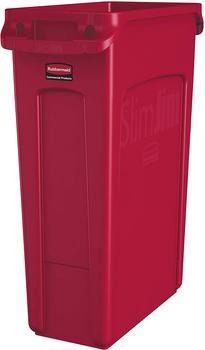 Rubbermaid 0086876227949 Wertstoffbehälter 87l (B x H x T) 279 x 762 x 558mm Rot 1St.