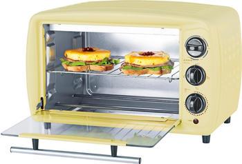 GOURMETmaxx Minibackofen Infrarot-Ofen Retro 19l, 1500 W, 1500 Watt, vanille gelb