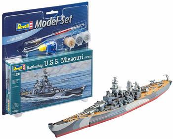 Revell Model Set Battleship U.S.S. Missouri (WWII) 1:1200 (65128)