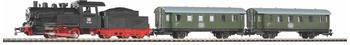 Piko Start-Set mit Bettung Personenzug Dampflok mit Tender (57112)