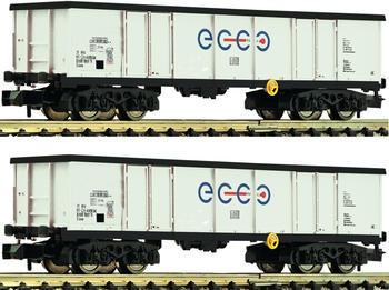 Fleischmann 2-tlg. Set: Offene Güterwagen, Ecco Rail (841014)