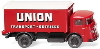 """Wiking Koffer-Lkw (Büssing 4500) """"Union Transport"""" (047603)"""