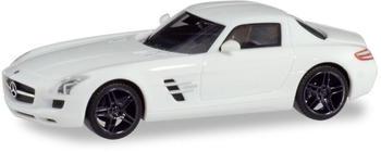 Herpa Mercedes-Benz SLS AMG weiß mit schwarzen Felge (420501)