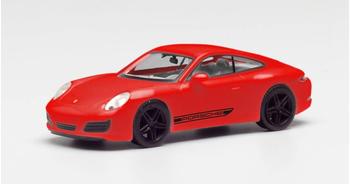 Herpa Porsche 911 Carrera 4S Coupé Indischrot mit schwarzen Felgen (420563)