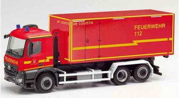 Herpa Mercedes-Benz Arocs M Wechsellader-LKW Feuerwehr Stadt - Herzogenrath (095464)