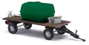 Busch Model Busch Zweiachs-Anhänger mit Wassertank und Zinkwanne (59945)