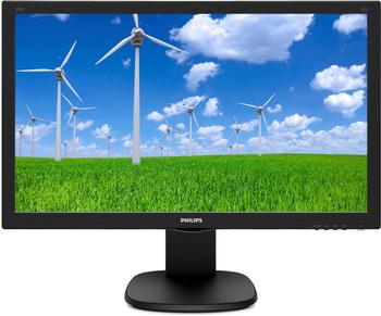 Philips 243S5LJMB/00 59,94cm, (23,6 Zoll) LCD-Monitor (1920x1080 pixel, 1ms Reaktionszeit, DVI-D, VGA, HDMI 1.4, DisplayPort 1.2, USB 2.0) schwarz
