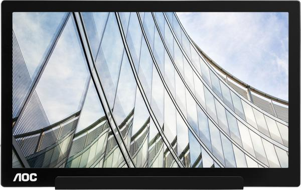 AOC I1601FWUX 15.6Zoll Full HD IPS Schwarz - Silber Computerbildschirm