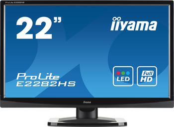 Iiyama Prolite E2282HS-B1 54,7cm (21,5 Zoll) LED-Monitor Full-HD (VGA, DVI, HDMI) Schwarz