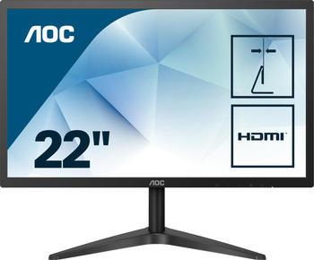 AOC 22B1HS 21.5Zoll Full HD LED Flach Schwarz Computerbildschirm