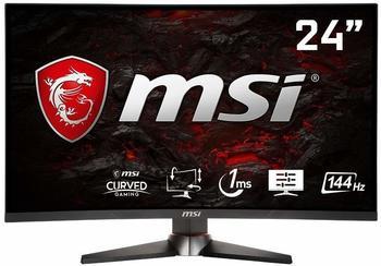 "MSI Optix MAG24C-307V Curved Gaming LED Monitor, 60,0 cm (23,6"") 144Hz, 1ms, FHD (1920x1080), schwarz MAG24C (Frameless Design, OSD App, FreeSync)"