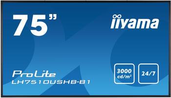 Iiyama Prolite LH7510USHB-B1, schwarz, LH7510USHB-B1