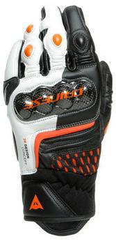 Dainese Carbon 3 Short Gloves Black/White/Orange