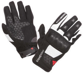 Modeka BikerWear Modeka Fuego Damenhandschuhe schwarz/hellgrau