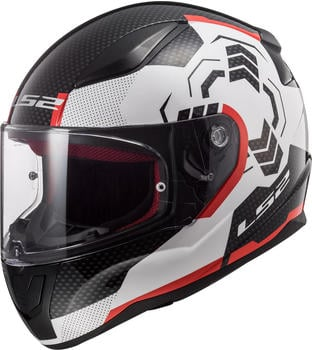 LS2 FF353 Rapid Ghost White Black Red