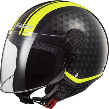 LS2 OF558 Sphere Lux Solid Crush Black/H-V Yellow