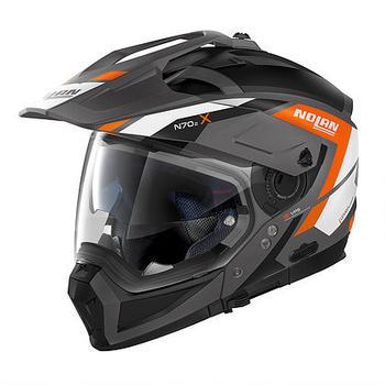Nolan N70-2 X Grandes Alpes matt grau/orange