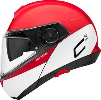 Schuberth C4 Pro Swipe rot/weiß