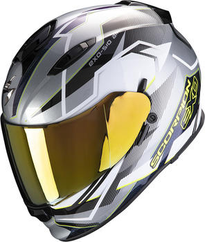 Scorpion Exo-510 Air Balt Silver/White/Neon Yellow