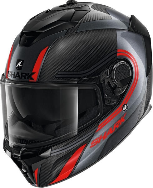 SHARK Spartan GT Carbon Tracker Carbon/ Anthracite/Red