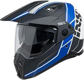 IXS 208 2.0 matt schwarz/weiß/blau