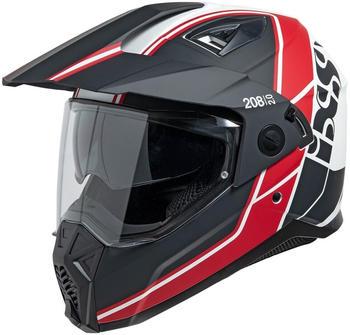 IXS 208 2.0 matt schwarz/weiß/rot